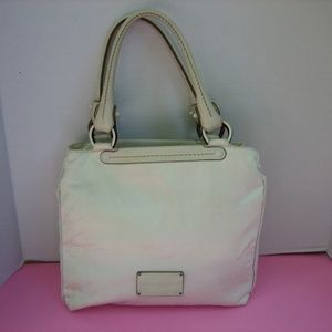 FERRAGAMO EX-21 Fabric/Leather White  Handbag